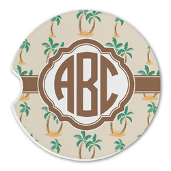 Palm Trees Sandstone Car Coasters (Personalized)