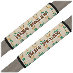 Palm Trees Seat Belt Covers (Set of 2) (Personalized)
