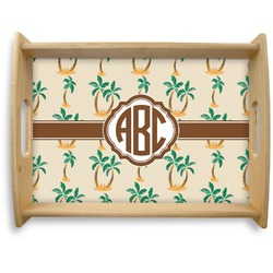 Palm Trees Natural Wooden Tray - Large (Personalized)