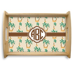 Palm Trees Natural Wooden Tray (Personalized)