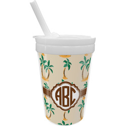 Palm Trees Sippy Cup with Straw (Personalized)