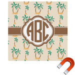 Palm Trees Square Car Magnet (Personalized)