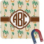 Palm Trees Square Fridge Magnet (Personalized)