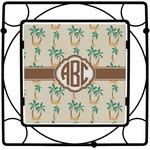 Palm Trees Square Trivet (Personalized)