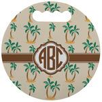 Palm Trees Stadium Cushion (Round) (Personalized)