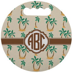 Palm Trees Stadium Cushion (Round) (Personalized)