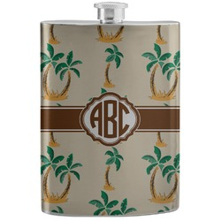 Palm Trees Stainless Steel Flask (Personalized)
