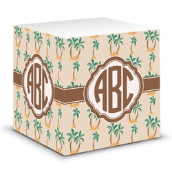 Palm Trees Sticky Note Cube (Personalized)