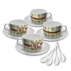 Palm Trees Tea Cup - Set of 4 (Personalized)