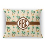 Palm Trees Rectangular Throw Pillow Case (Personalized)