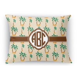 Palm Trees Rectangular Throw Pillow (Personalized)