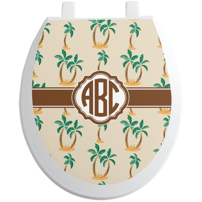 Palm Trees Toilet Seat Decal (Personalized)