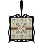 Palm Trees Trivet with Handle (Personalized)