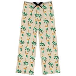 Palm Trees Womens Pajama Pants (Personalized)