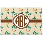 Palm Trees Woven Mat (Personalized)