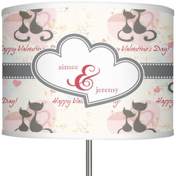 "Cats in Love 13"" Drum Lamp Shade (Personalized)"