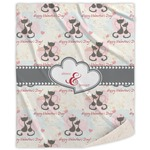 Cats in Love Sherpa Throw Blanket (Personalized)