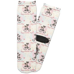 Cats in Love Adult Crew Socks (Personalized)