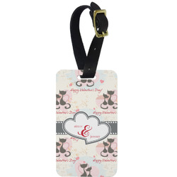 Cats in Love Aluminum Luggage Tag (Personalized)
