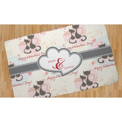 Cats in Love Area Rug (Personalized)