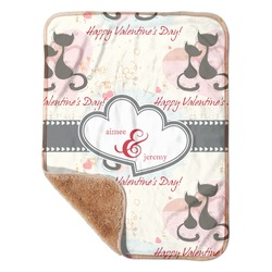 """Cats in Love Sherpa Baby Blanket 30"""" x 40"""" (Personalized)"""