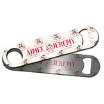 Cats in Love Bar Bottle Opener w/ Couple's Names