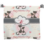 Cats in Love Full Print Bath Towel (Personalized)
