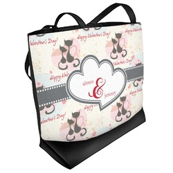 Cats in Love Beach Tote Bag (Personalized)