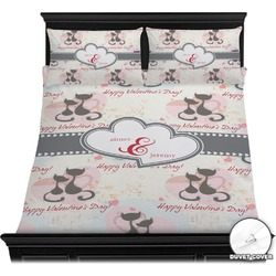 Cats in Love Duvet Cover Set (Personalized)