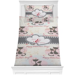 Cats in Love Comforter Set - Twin XL (Personalized)