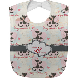 Cats in Love Baby Bib (Personalized)