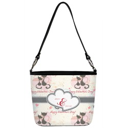 Cats in Love Bucket Bag w/ Genuine Leather Trim (Personalized)