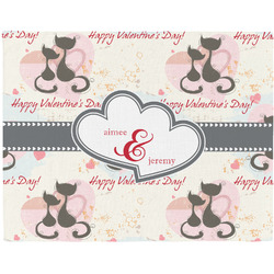 Cats in Love Placemat (Fabric) (Personalized)