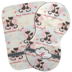 Cats in Love Burp Cloth (Personalized)