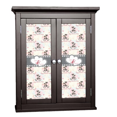 Cats in Love Cabinet Decal - Custom Size (Personalized)