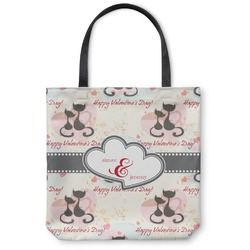 Cats in Love Canvas Tote Bag (Personalized)