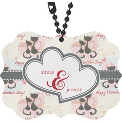 Cats in Love Rear View Mirror Charm (Personalized)