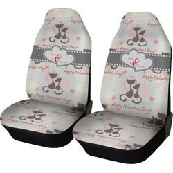 Cats in Love Car Seat Covers (Set of Two) (Personalized)