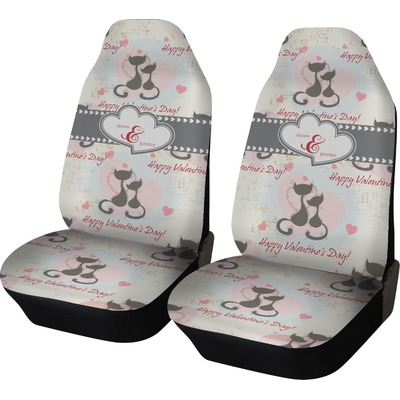 cats in love car seat covers set of two personalized you customize it. Black Bedroom Furniture Sets. Home Design Ideas