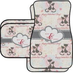 Cats in Love Car Floor Mats Set - 2 Front & 2 Back (Personalized)