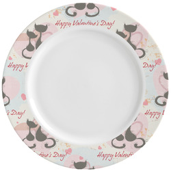 Cats in Love Ceramic Dinner Plates (Set of 4) (Personalized)