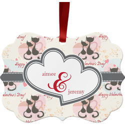 Cats in Love Ornament (Personalized)