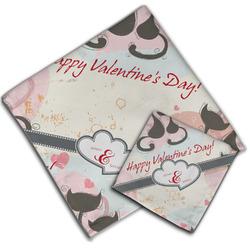 Cats in Love Cloth Napkin w/ Couple's Names
