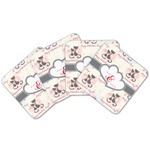 Cats in Love Cork Coaster - Set of 4 w/ Couple's Names