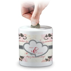 Cats in Love Coin Bank (Personalized)