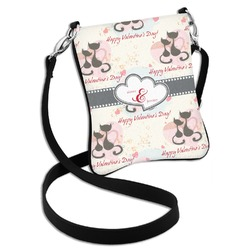 Cats in Love Cross Body Bag - 2 Sizes (Personalized)