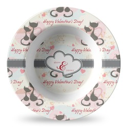 Cats in Love Plastic Bowl - Microwave Safe - Composite Polymer (Personalized)
