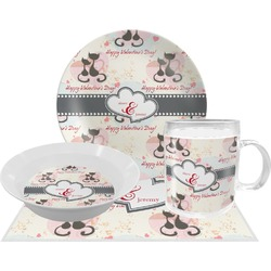 Cats in Love Dinner Set - 4 Pc (Personalized)