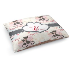 Cats in Love Dog Bed - Medium w/ Couple's Names