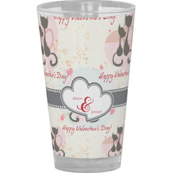 Cats in Love Drinking / Pint Glass (Personalized)